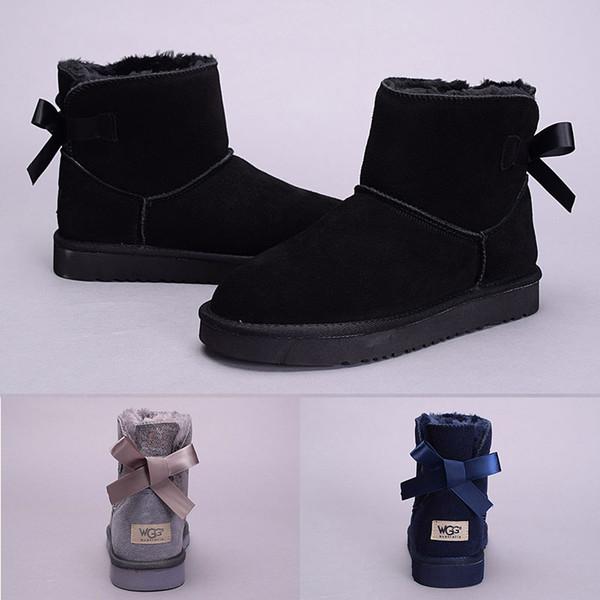 2018 Yeni WGG Avustralya Klasik kar Botları Yüksek Kalite Ucuz kadınlar kış çizmeler moda indirim ayakkabı siyah gri lacivert boyutu 5-10