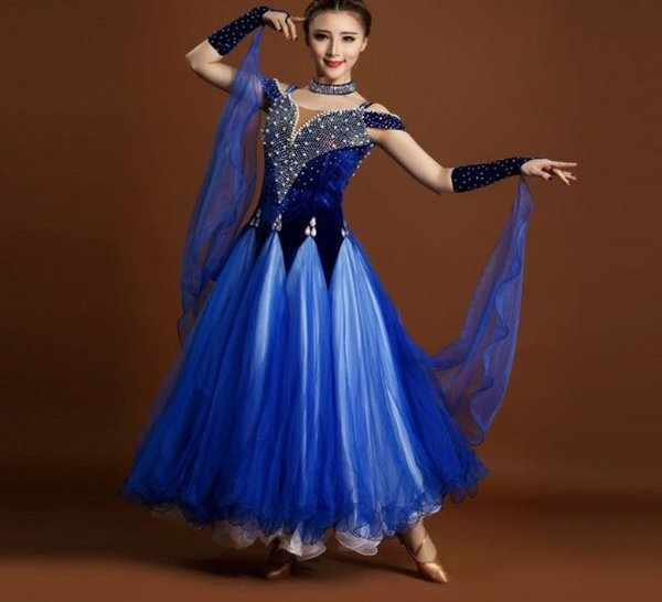 11b25b0c7 New Ballroom Waltz dance costumes sexy spandex evlvet sleeveless ballroom  dance dress for women ballroom dance
