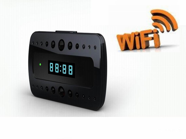 Hot sale 1080P WIFI Camera IR Night Version IP Camera Digital Alarm Clock Mini Camcorders Home Security Baby Monitor