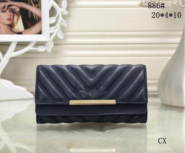 2018 women long wallet clutch handbag women lady fashion luxury top quality brand designer free shipping new arrival