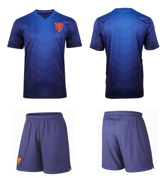 newest 32989 6065a 2018 Thai Quality Netherland Team Jersey Away 2014 World Cup Robben Sneuder  V.Persie Man Nederland Soccer Jerseys Cheap Football Shirt Suit From ...