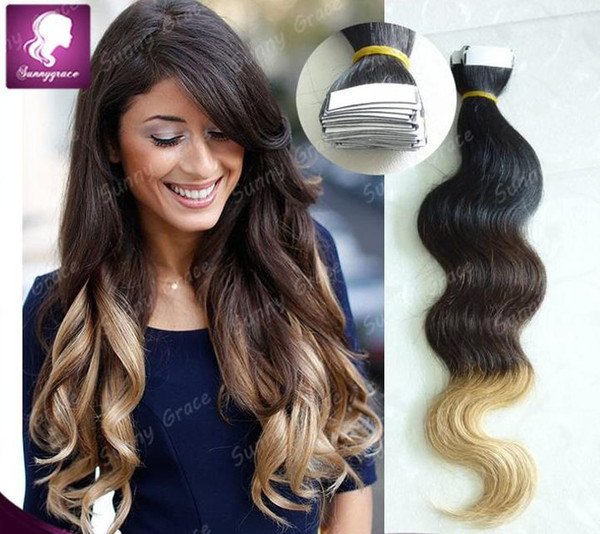 Ombre 1b 2 613 Tape On Hair Extension Body Wave Human Remy Tape Hair