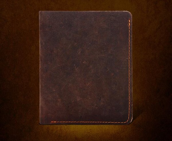 Domain1 Men's Cowboy Genuine Natural Crazy Horse Leather Bifold Wallet