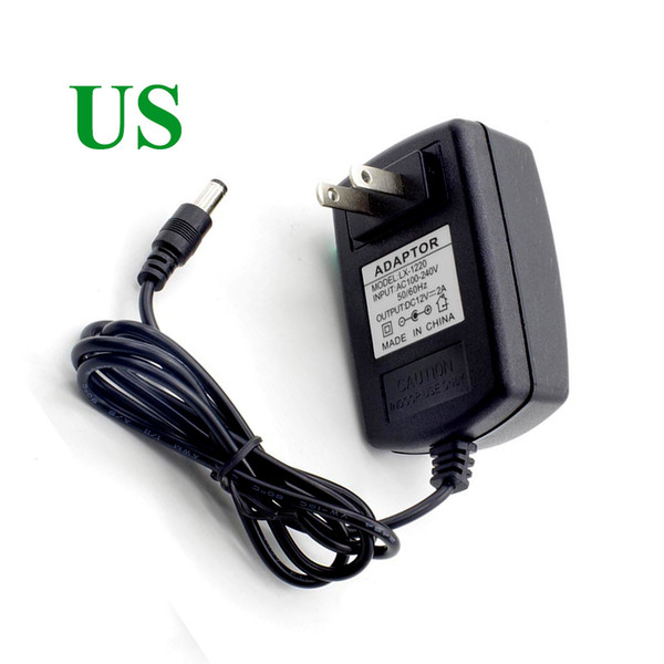 best selling 12v 2a switching power supply LED lamp power supply power supply 12v 2a router 5.5*2.1mm EU US