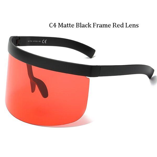 C4 Cadre Noir Mat Lentille Rouge