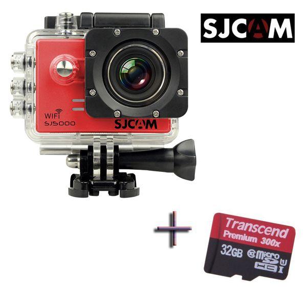 Originale SJCAM SJ5000 WiFi Sport Macchina Fotografica Impermeabile Car DVR + 1 x Extra Transcend 32 GB Memory Card 20 pz / lotto Spedizione gratuita