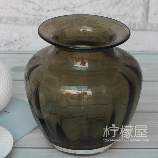 The New Classical Artificial Blowing Glass Vase Glass Vase Flower
