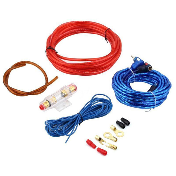 New 8GA Car Power Subwoofer Amplifier Speaker Audio Wire Cable Kit With Fuse Holder Protect Audio System E#A
