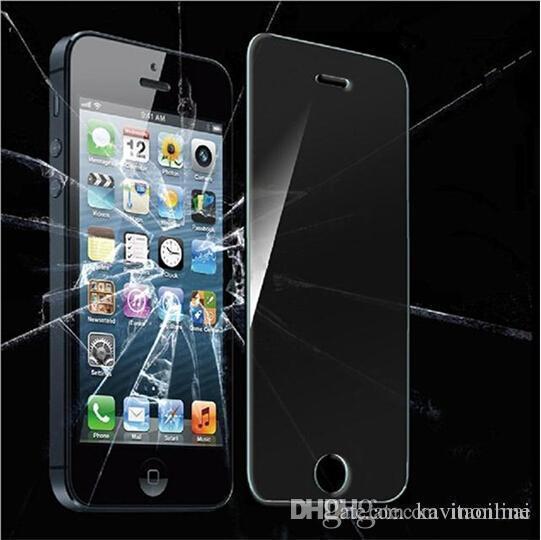 Samsung S6 2.5D ausgeglichenes Glas-Schirm-Schutz 0.26mm behandelte Glas iphone 6 plus 5 4 Samsung S4 S5 S6 Note4 DHL