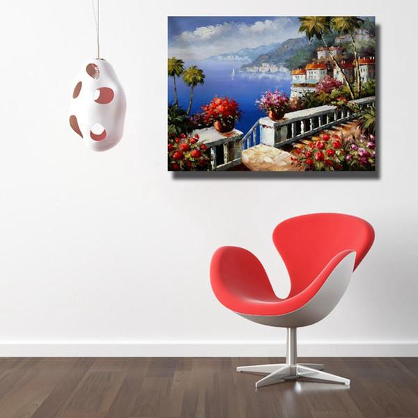 Großhandel Schöne Sea Landscape Wandbilder Wohnzimmer Dekor Günstige  Moderne Ölgemälde Auf Leinwand Kein Gestaltet Von Dafenoilpaintingyeah,  $30.39 ...