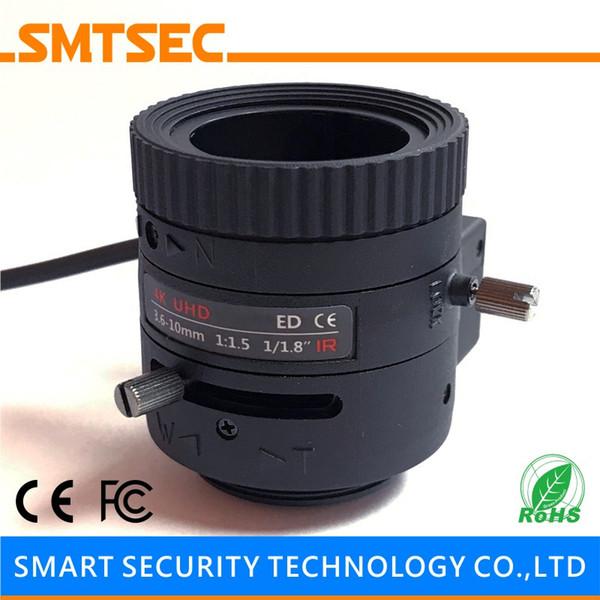 "Wholesale- SL-3610A4KP P-IRIS 3.6-10mm Varifocal Zoom Auto IRIS 1/1.8"" CS Mount IMX172 4K CCTV Lens For HD IP Security Camera"