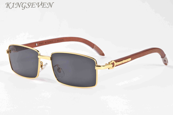 2017 Gafas de Sol de Bambú Vintage Hombres Oro Gafas de Sol de Madera Original Mujeres Espejo Gafas de Deporte Retro Gafas de Sol Hecho A Mano gafas