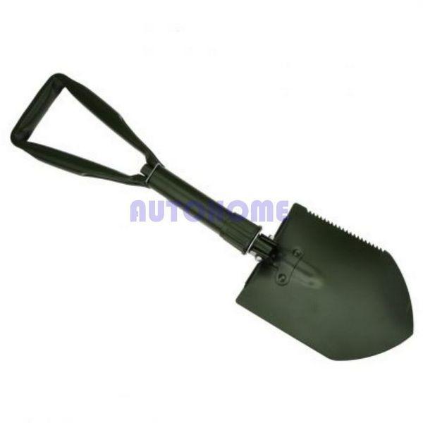 "30 X New 23"" Tri-Fold Foldable Folding Shovel Pick Garden Camping hiking Tool Army Green order<$18no track"