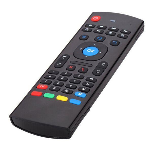 MX3 портативный 2.4 G беспроводной пульт дистанционного управления T3 воздуха мышь клавиатура контроллер для смарт TS3V Android TV box мини ПК HTPC