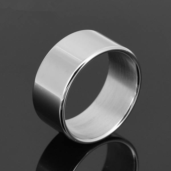 Wholesale- Stainless Steel The Sleeves Cock Ring Delay Ejaculation Penis Ring Metal Male Sex Ring Delay Cockring Sex Toys for Men G1-31