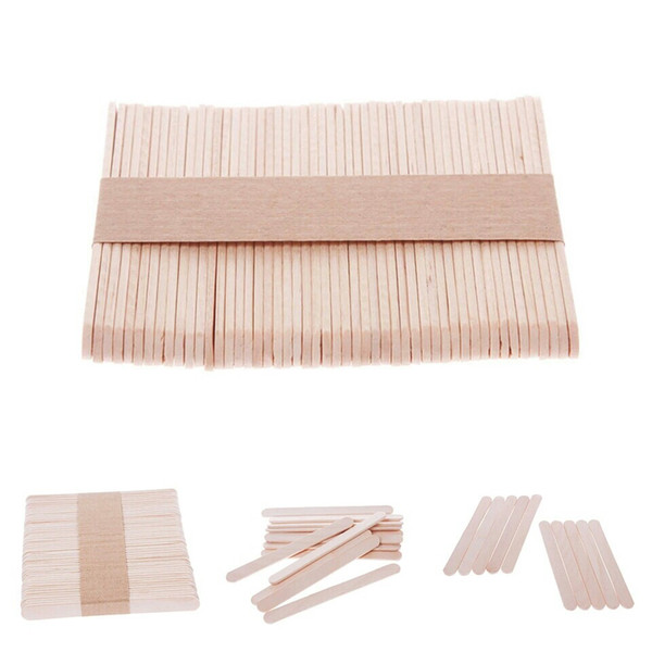 50Pcs Ice Cream Wooden Popsicle Stick Wooden Popsicle Stick Kids Hand Crafts Art Ice Cream Lolly Cake DIY Making Funny