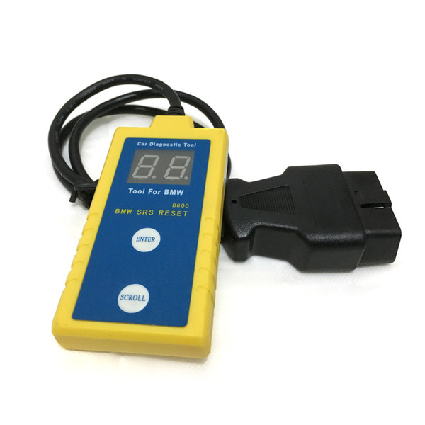 "For BMW B800 Airbag Scan / Reset Tool displaying SRS fault codes and resetting the ""SRS"" Light"