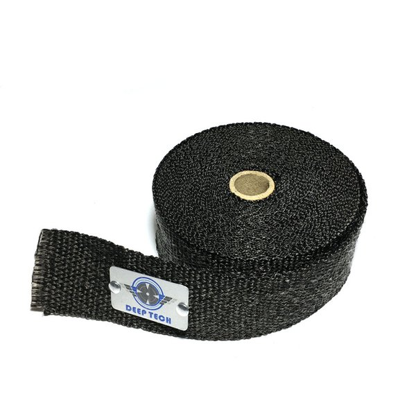 15m Black Auto Mainfold Wrap Motorcycle Exhaust Pipe Heat Wrap with 6 Pieces Cable Locking Ties