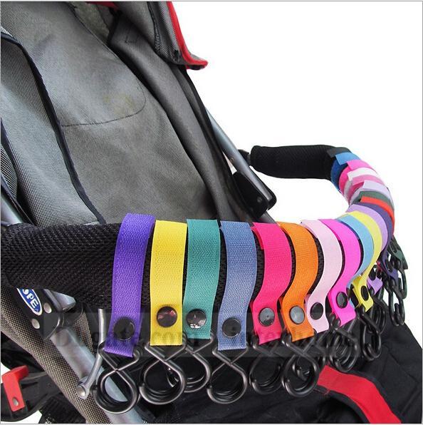 top popular Baby Stroller 2 Hook Pram Carriage Hanger Pushchair Hanging Hooks Trolley Suitable Strap Shopping Bag Handbag Hook Hanger Clips Carrier B909 2021