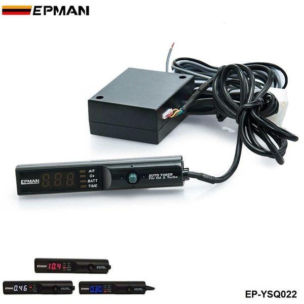 EPMAN Auto Car Blu / Rosso / Bianco Led Digital Cool Down Turbo Timer per Turbo NA Controllo penna nera EP-YSQ022
