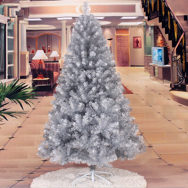 christmas new year essential 18 m 180cm encryption christmas tree christmas gifts silver christmas ornament