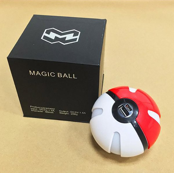 Poke go power bank 10000mAh for AR game pokeball ball power bank With LED Light Portable Charge Figure Toys For iPhone Samsung