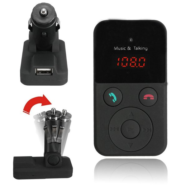 New Cheap Wireless Bluetooth Car Kit FM Transmitter MP3 Player LCD Display Support SD USB Remote Control DHL