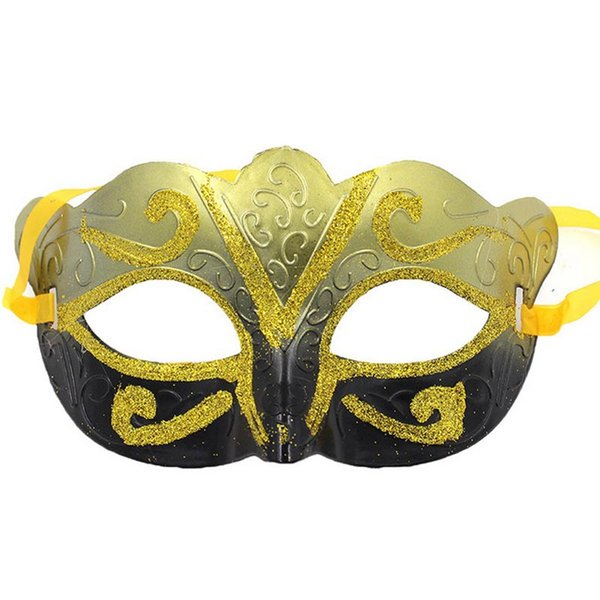 Party Venetian masquerade Eye Mask gold Sexy Hip Hop Dance costume carnival cosplay fancy dress christmas costume wedding gift 100p B124