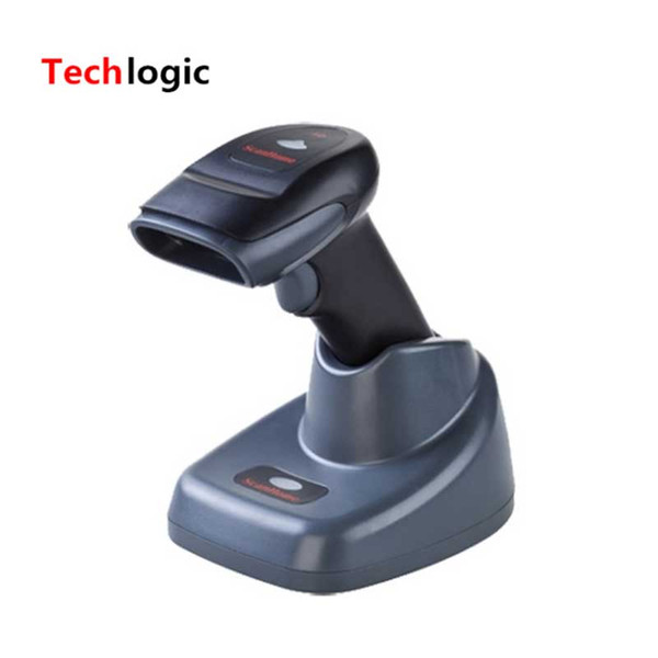 top popular Wholesale- 433 Wireless Barcode Scanner with Storage Charger Base Receiver 3 in 1 Wireless Bar Code Reader Laser Barcode Gun Suppport RS232 2019