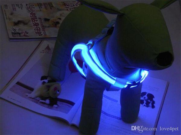 E01 USB aufladbare Hundegeschirr LED Licht Haustier Gürtel leuchtenden Hundegeschirr für mittlere große Hunde versandkostenfrei