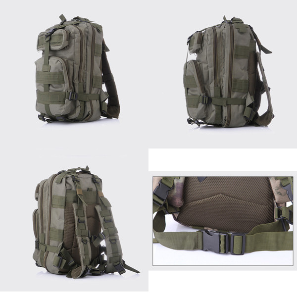 2017 New 30L Outdoor Sport Military Tactical Backpack Molle Rucksacks Camping Trekking Bag backpacks 50pcs Free Shipping