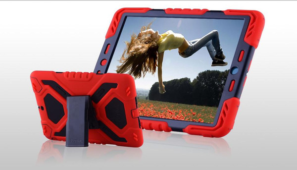Pepkoo Military Spider Stand Water Dirt Shock Proof Case Cover PC Silicone for iPad MINI Air 2 3 4 Air2 Tablet PC Spider-Man Stander Cases