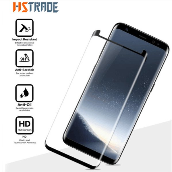 Vidrio templado 3D 9H para Samsung Galaxy S8 Protector de pantalla Película protectora para Samsung Galaxy S8 Plus Case Friendly