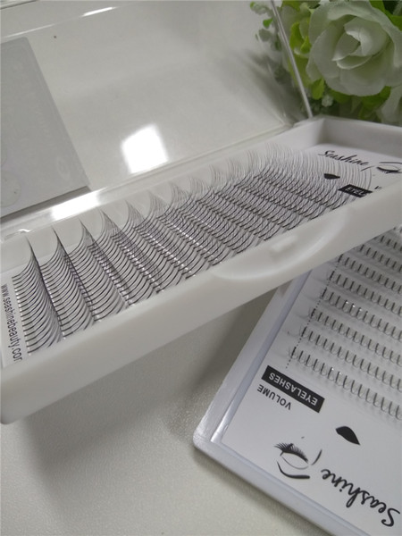 Free shipping Top Korean lashes 9-14mm 3D False Eyelashes Extension 3D Lashes W Lashes VOLUME Fans Flase Eyelashes Seashine