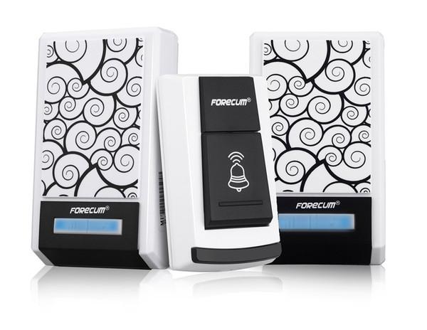 Forecum 5F sans fil à distance sans fil intelligent sonnette numérique sans fil de porte avec 2 récepteurs 36 sons de polyphonie
