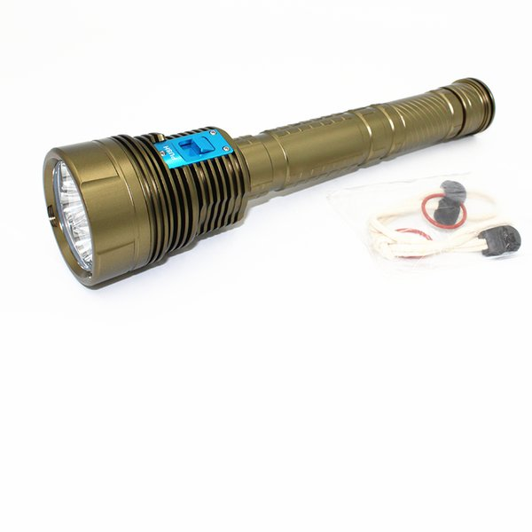 KC Fire New 9200LM 9 X XM-L2 LED Diving Flashlight Underwater Waterproof 100 Meters 3 Mode SOS Torch Dive Light DL0063