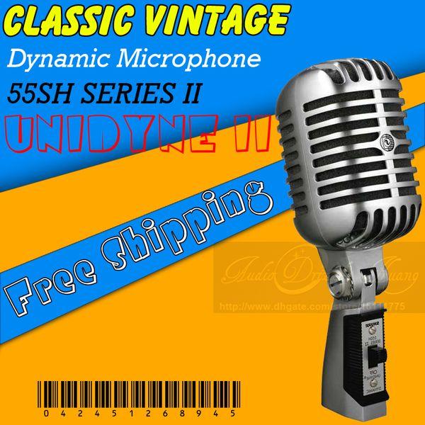 Professional Wired Dynamic Vintage Microphone Studio Mic For KTV DJ Karaoke Recording Microphone Stage Retro Microfone Microfono