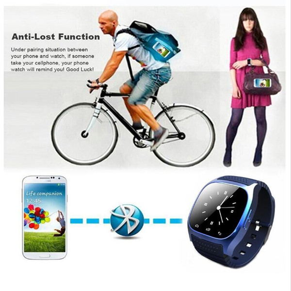 2016 New M26 Bluetooth Smart Watches for iPhone 6/6S Samsung S5/S4/Note 3 HTC Android Phone Smartwatch forMen Women factory PriceWholesales