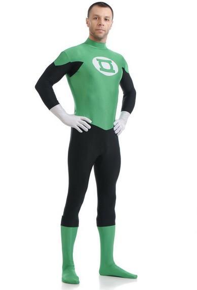 Newest Green Lantern Costume Spandex Halloween Cosplay Justice League Superhero Costumes Hot Sale Zentai Suit
