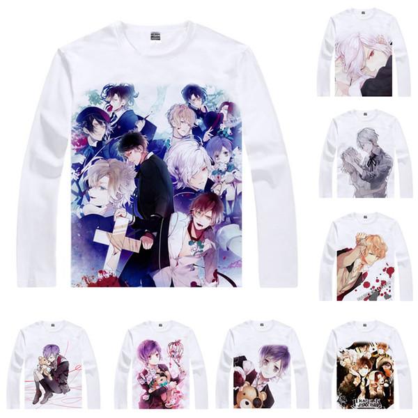Anime Shirt DIABOLIK LOVERS Diaborikku Ravazu T-Shirts Multi-style Long Sleeve Komori Yui Sakamaki Kanato Cosplay Motivs Kawaii Shirts