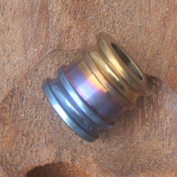 EDC Титана Титана Ti талреп бисера кулон парашют шнур нож инструмент молния тянуть TRDZ003 10x10mm диаметр отверстия 6,1 мм