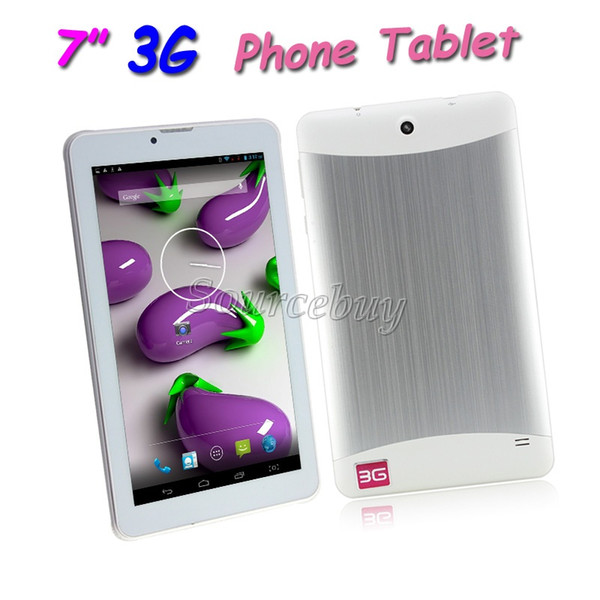 """Phone Call Tablet PC MTK6572 Dual Core 7"""" 3G WCDMA Unlocked 4GB Android 4.2 Dual Cameras WIFI Bluetooth GPS Dual Card Phablet"""