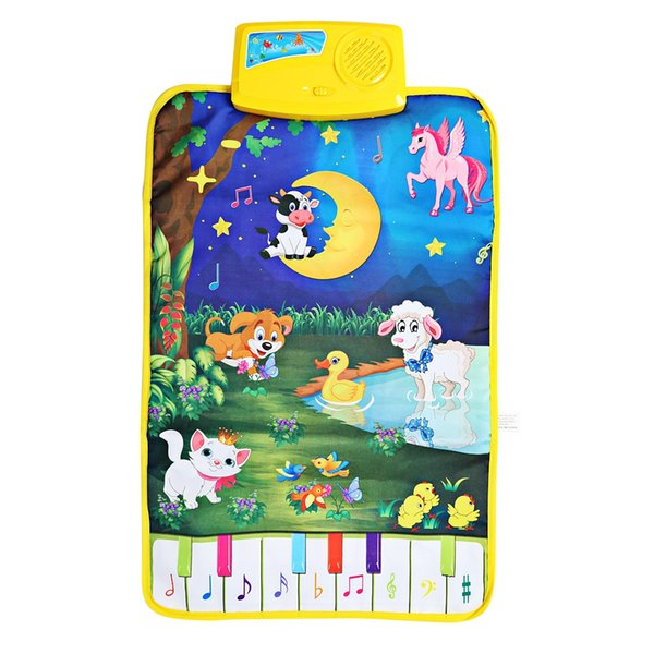 Baby Piano Mats Music Carpets Newborn Kid Children Touch Play Game Musical Carpet Mat Animal Moon Blanket Toy Gift 62x37.5cm VB