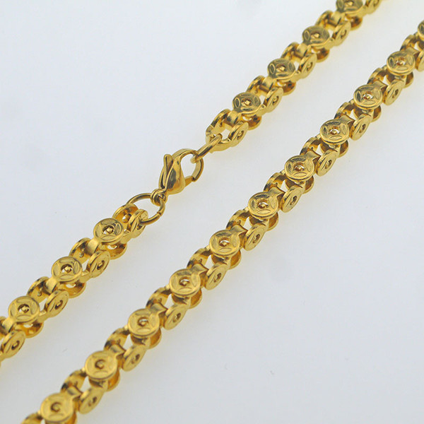 Lobster claw buckle chain chain 304 stainless steel material gold free shipping