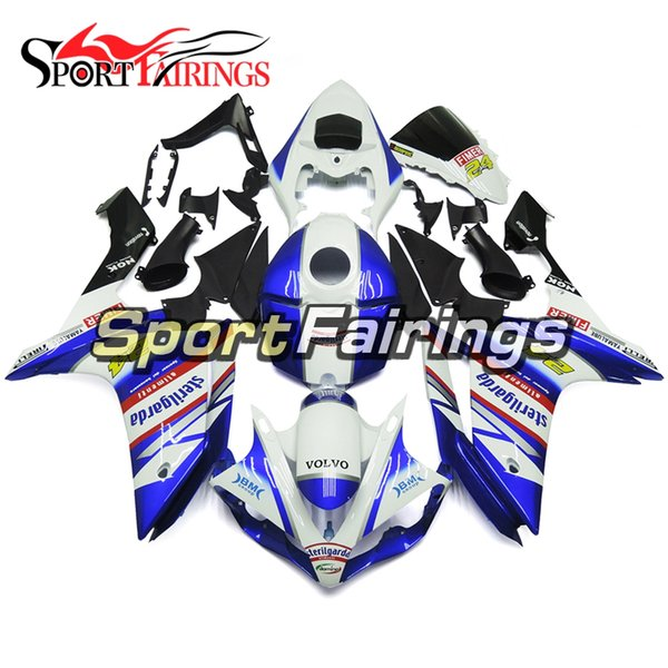 Full Injection White Blue Red Decals New For Yamaha YZF1000 YZF R1 2007 2008 Plastics ABS Fairings Motorcycle Fairing Kit Bodywork Hulls