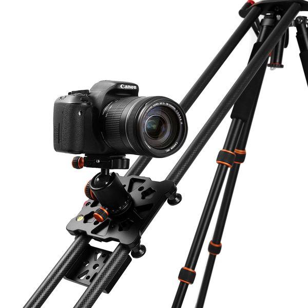 "Wholesale- New 100cm/40"" Carbon Fiber Four Bearing Video Track Slider Dolly Stabilizer System for DSLR Camera Camcorder Super Light By DHL"