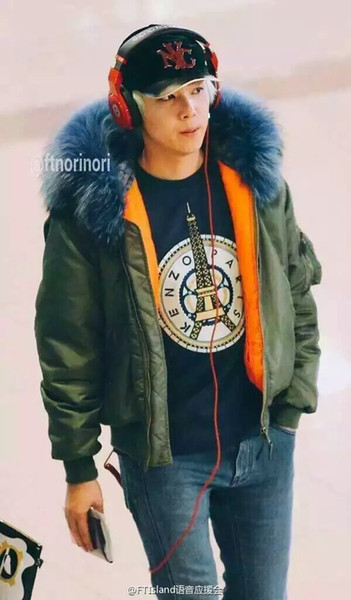 2016 Winter New Top Quality Raccoon Hooded Army Green Parka Mens Blue Collar Overcoat Large Size Thick Coat Parkas S M L XL XXL