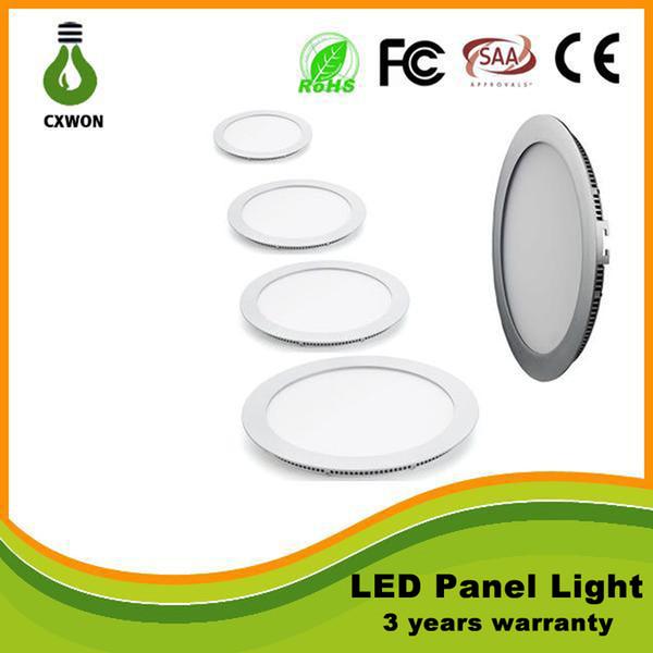 Ultradünnes Design 6W 9W 12W 15W 18W 21W 24W 30W LED-Deckeneinbauleuchte für runde Innenleuchten AC110-265V