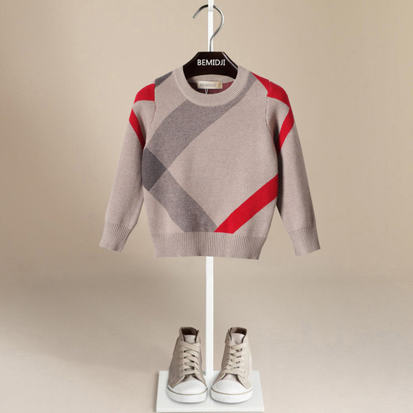 2-6 лет мальчик свитера сгущаться вязаный классический стиль Англии дети пуловеры мальчики кардиган Менина
