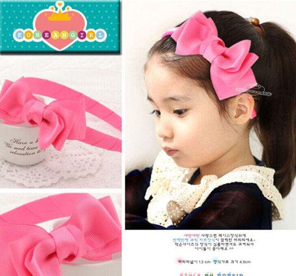 New Children's Princess Hair Accessories Bowknot Baby Girls Headband Kids Hair Sticks Party Accessories Hair Wear